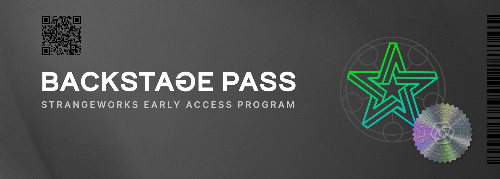 Strangeworks Backstage Pass Program